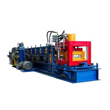 Hydraulic motor drive CZ purlin roll forming machine