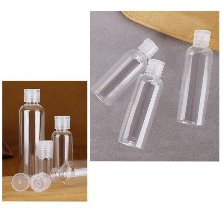 PET transparent bottle cosmetic clamshell bottle (1)