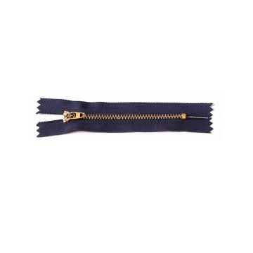 Promotional secure golden metal zippers for bags