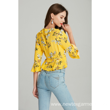 LADIES PRINTED VISCOSE BLOUSE