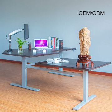 Custom Tall Corner Computer Sit Stand Height Desk