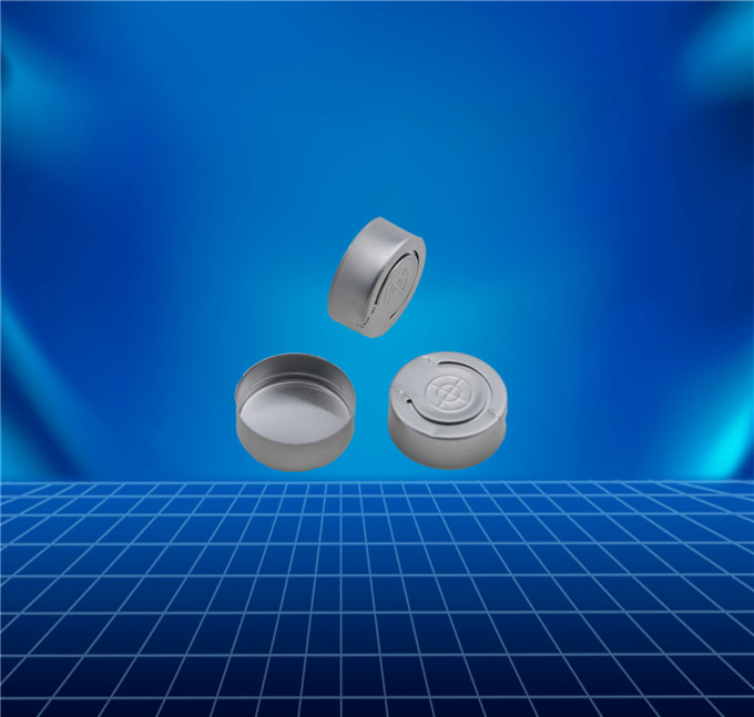 aluminium tear-off cap for antibiotic