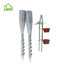 Umbrella ground screw pole anchor