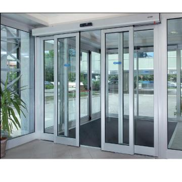 Electric dsd sliding glass telescopic automatic door system