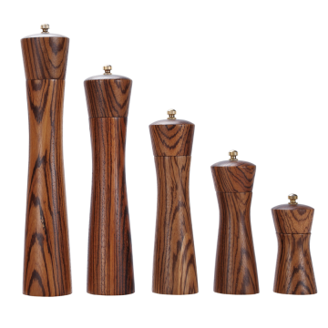 Manual wooden pepper mill