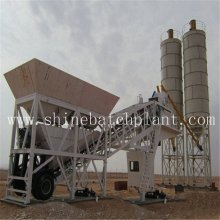 Customized for Mobile Concrete Mixer 40 Ready Wet Mobile Concrete Batching Plant export to Namibia Factory