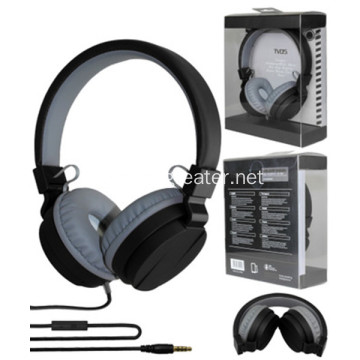 High quality  colorful wired headset foldable headphones