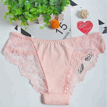 Fashion Wholesale hollow lace satin panties women