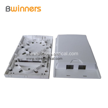 2 Port FTTH Indoor Fiber Optic Termination Box Socket Panel