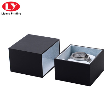 Maluho nga drawer Slide Matte Black Watch Box