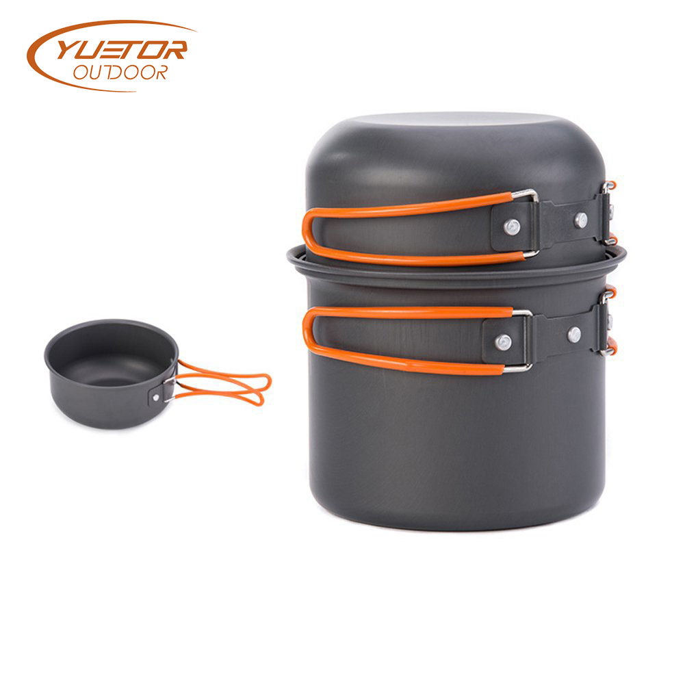 5pieces Outdoor Camping Pot And Cup Cooker Set