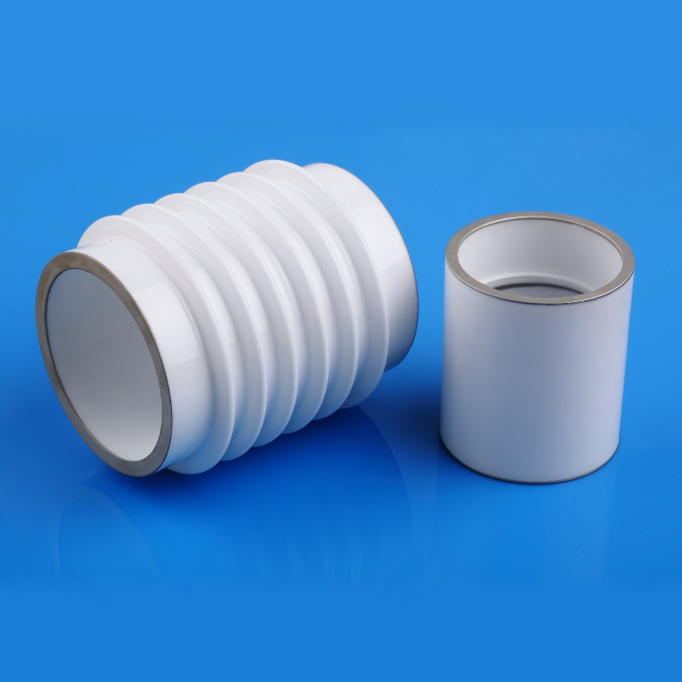 Glazed vacuum ceramic insulator