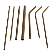 Elegant Gold Food Grade Stainless Steel Drinking Straws