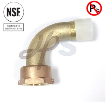 NSF Approved 1/2''-2'' Water Meter Coupling of Bronze or Brass Material