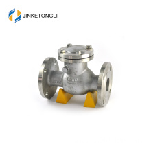 JKTLPC061 industrial inline cast steel flanged float check valve