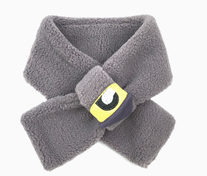 Comfortable Polar Fleece Scarf Grey