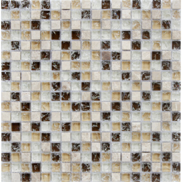 Ice cracked effect glass mosaic