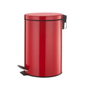 Factory wholesale price for Pedal Bin 12 Litre Stainless Steel Pedal Bin Red Color supply to Poland Factories