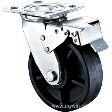 6'' Heavy Duty Plate Swivel High Temperature Caster With Brake