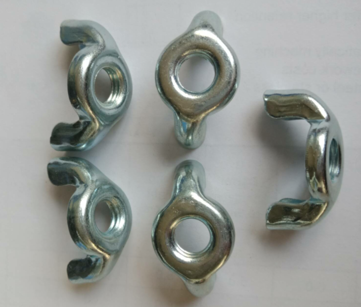 middle steel zinc plated wing nuts