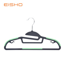 Non-Slip Plastic Hangers With Green Rubber Pieces