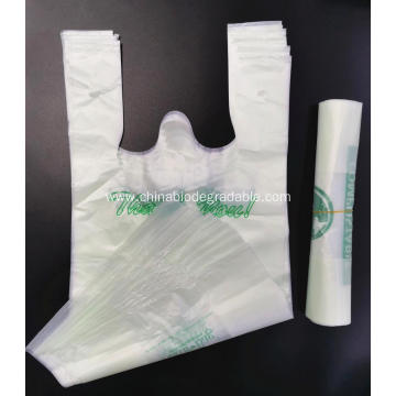 PLA 100% Biodegradable Compostable T Shopping Bags