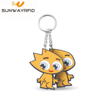 Cartoon Design RFID NTAG® 216 PVC Keyfob Keychain