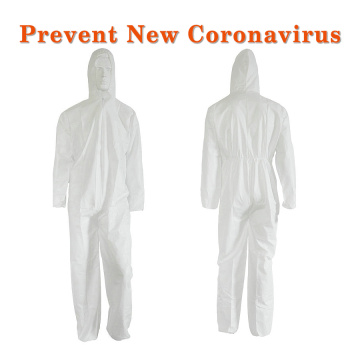 Breathable SMS Medical Anti Virus Disposable Coverall