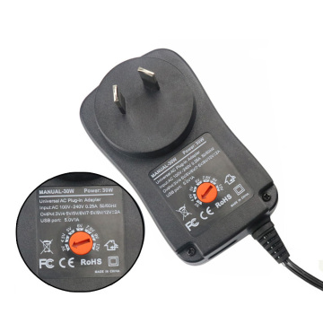 AU Plug 30W Wall Charger Adjustable Voltage Power Supply