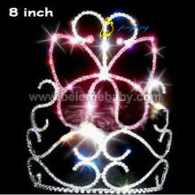 Fast Delivery for Christmas Animal Rhinestone and Crystal Pink butterfly pageant crowns CR-293 supply to French Polynesia Factory