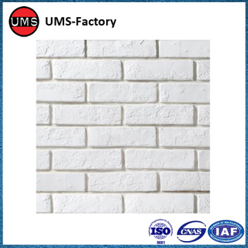 Faux white brick interior wall tiles