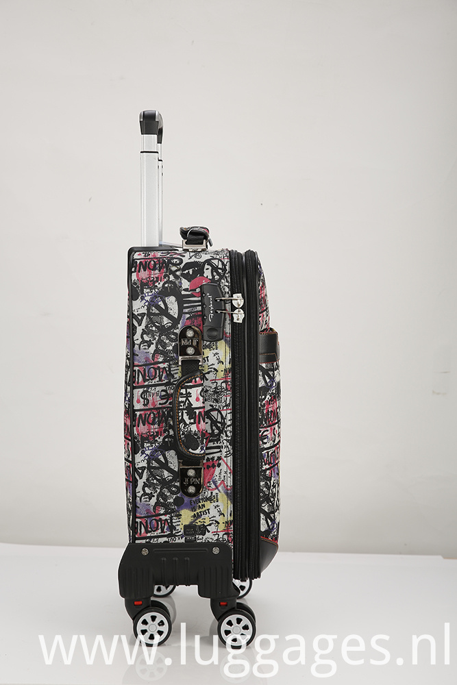 Printed Wheeled Luggage Carry On