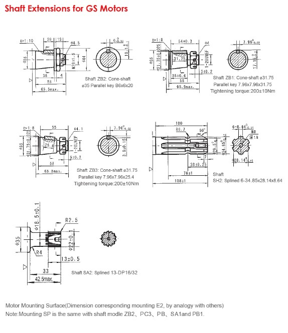 Shaft Extensions for Motors