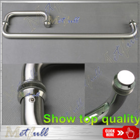 Pull Handle and Single Sided Towel Bar Combination