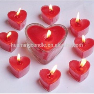 romantic heart shape scented tealight candle for Christmas
