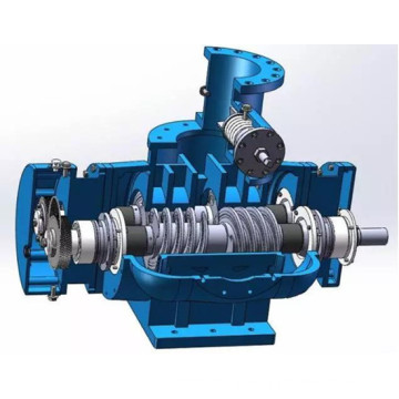 Three screw type transport pump