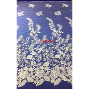 Mesh Flower Lace Embroidered Fabric