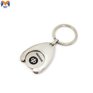 Custom trolley coin keychain keyring