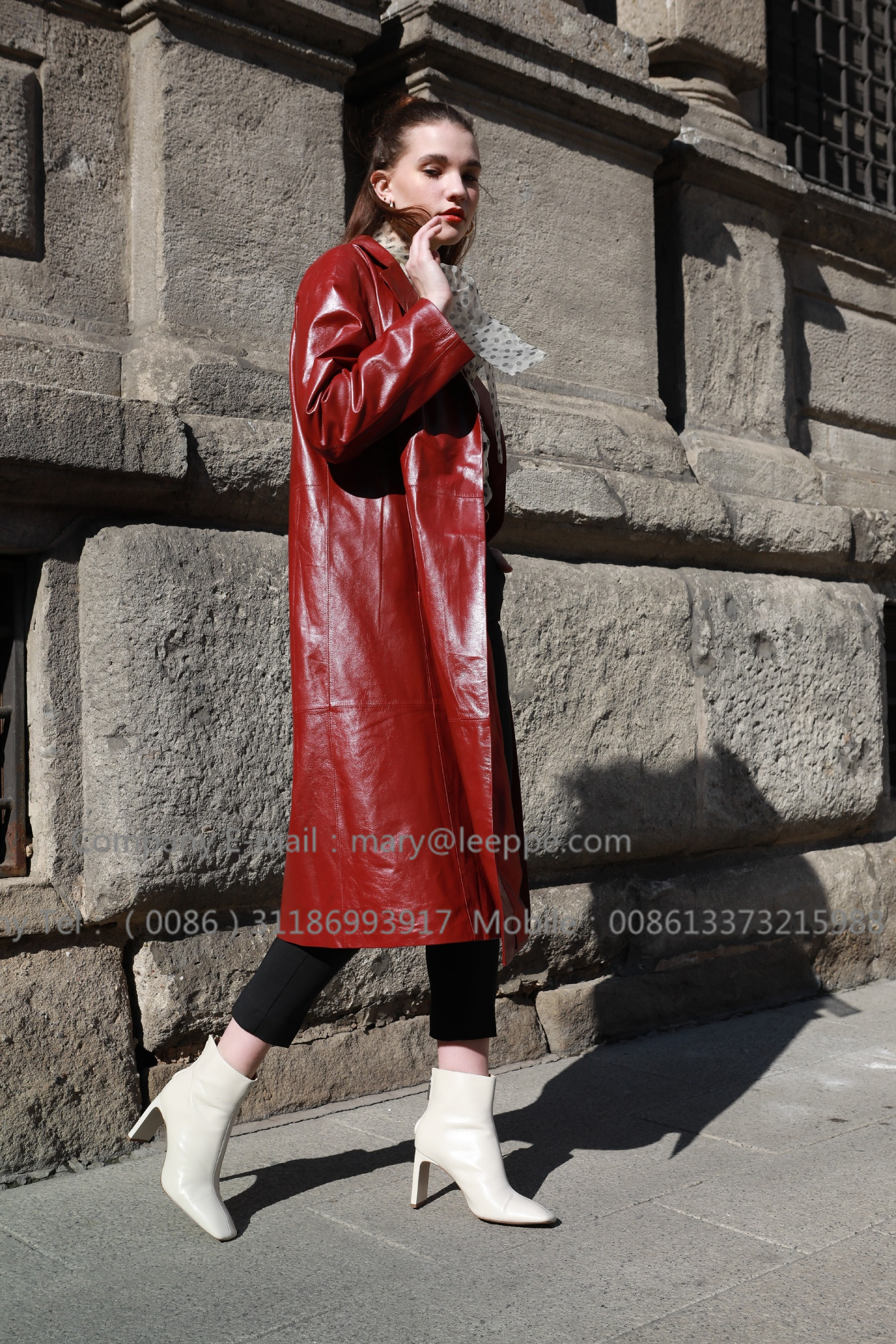 Red Leather Coat (2)