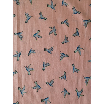 Birds Design Rayon Poplin shuttle 45S Printing Fabric