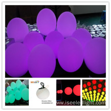 Changing colour DMX RGB hanging ball 30cm
