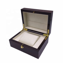 Custom Solid Wooden Watch Storage Box With Lock