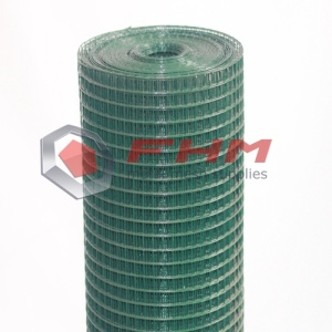 Green PVC Welded Wire Cloth 20 Gauge Wire
