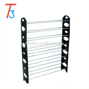 8 layer Stackable plastic Shoe Rack with adjustable design