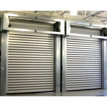 Aluminium Spiral Insulated Roll Up Garage Door