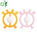Promotion Antlers Design Round SiliconeTeether for Babies