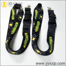 custom polyester unique logo lanyard with authentication