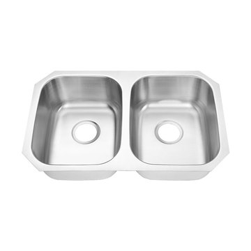 7445A Undermount Double Bowl Bar Sink