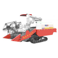 rice paddy grain combine harvester