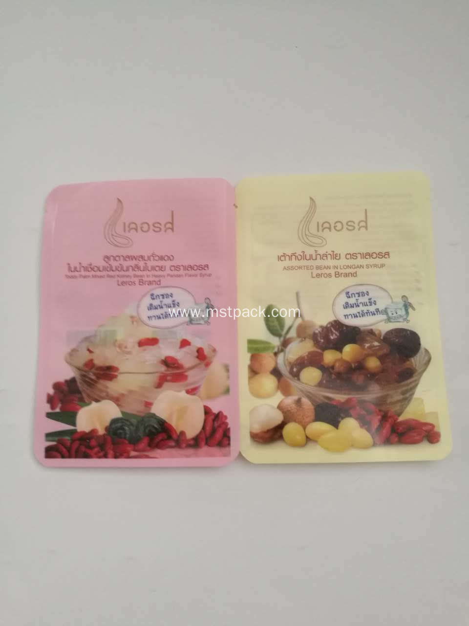 Retort 3 Side Seal Pouch With Printing